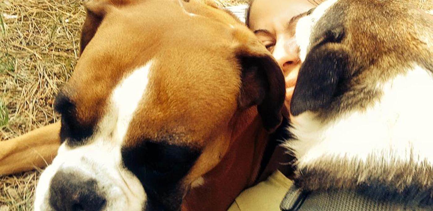Valentenji, cane Alì e Greta